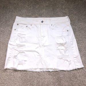 White Jean AE Skirt